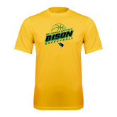 Syntrel Performance Gold Tee-Bison Basketball Slanted Stacked