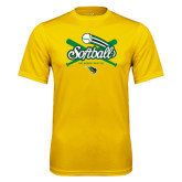 Syntrel Performance Gold Tee-Softball Crossed Bats