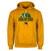 Gold Fleece Hoodie-NCCAA Womens Tennis Champions 2017 - Half Ball