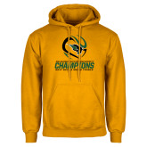 Gold Fleece Hoodie-NCCAA Mens Tennis Champions 2017