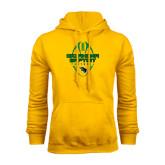 Gold Fleece Hoodie-Oklahoma Football Vertical