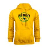 Gold Fleece Hoodie-Bison Basketball w/ Ball