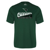 Performance Dark Green Tee-NCCAA National Champions Mens Outdoor Track and Field