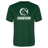 Performance Dark Green Tee-NCCAA Womens Tennis Champions 2017