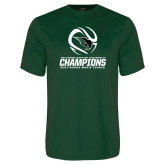 Performance Dark Green Tee-NCCAA Mens Tennis Champions 2017