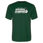 Performance Dark Green Tee-2017 NCCAA National Baseball Champions