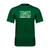 Performance Dark Green Tee-Swimming & Diving