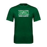 Performance Dark Green Tee-Cross Country