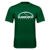 Performance Dark Green Tee-Oklahoma Football Horizontal