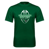Performance Dark Green Tee-Oklahoma Football Vertical