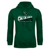 Dark Green Fleece Hood-NCCAA National Champions Mens Outdoor Track and Field