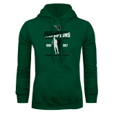 Dark Green Fleece Hood-NCCAA National Champions Womens Outdoor Track and Field back to back