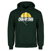 Dark Green Fleece Hood-NCCAA Womens Tennis Champions 2017 - Half Ball