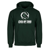 Dark Green Fleece Hood-NCCAA Mens Tennis Champions 2017