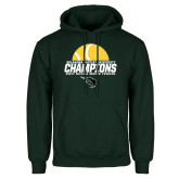 Dark Green Fleece Hood-NCCAA Mens Tennis Champions 2017 - Half Ball