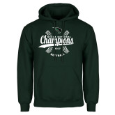 Dark Green Fleece Hood-2017 NCCAA National Softball Champions