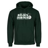 Dark Green Fleece Hood-2017 NCCAA National Baseball Champions
