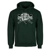 Dark Green Fleece Hood-2017 NCCAA National Champions - Baseball Crossed Bats