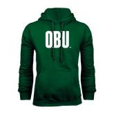 Dark Green Fleece Hood-OBU Wordmark