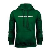 Dark Green Fleece Hood-Oklahoma Baptist University Flat