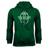 Dark Green Fleece Hood-Oklahoma Football Vertical