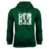 Dark Green Fleece Hood-Cheer Stacked