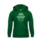 Youth Dark Green Fleece Hoodie-Oklahoma Football Vertical
