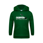 Youth Dark Green Fleece Hoodie-NCCAA National Champions Mens Outdoor Track and Field