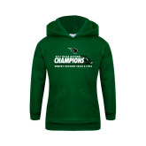 Youth Dark Green Fleece Hoodie-NCCAA National Champions Womens Outdoor Track and Field