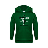Youth Dark Green Fleece Hoodie-NCCAA National Champions Mens Outdoor Track and Field back to back