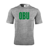 Performance Grey Heather Contender Tee-OBU Wordmark