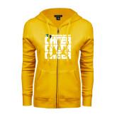 ENZA Ladies Gold Fleece Full Zip Hoodie-Cheer Stacked