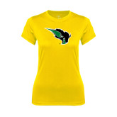 Ladies Syntrel Performance Gold Tee-Power Bison