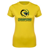 Ladies Syntrel Performance Gold Tee-NCCAA Mens Tennis Champions 2017