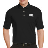 Callaway Tonal Black Polo-OBU Wordmark