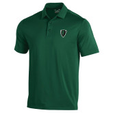 Under Armour Dark Green Performance Polo-Charging Bison