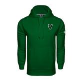 Under Armour Dark Green Performance Sweats Team Hoodie-Charging Bison