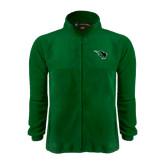 Fleece Full Zip Dark Green Jacket-Power Bison