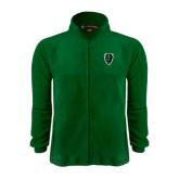 Fleece Full Zip Dark Green Jacket-Charging Bison