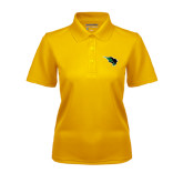 Ladies Gold Dry Mesh Polo-Power Bison