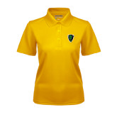 Ladies Gold Dry Mesh Polo-Charging Bison