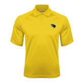 Gold Textured Saddle Shoulder Polo-Power Bison