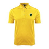 Gold Dry Mesh Polo-Charging Bison