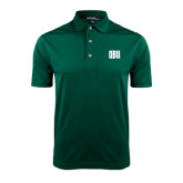 Dark Green Dry Mesh Polo-OBU Wordmark