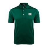 Dark Green Dry Mesh Polo-OBU Wordmark