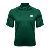 Dark Green Textured Saddle Shoulder Polo-OBU Wordmark