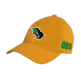 Gold Twill Unstructured Low Profile Hat-Power Bison