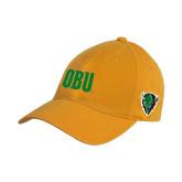 Gold Twill Unstructured Low Profile Hat-OBU Wordmark