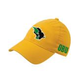 Gold OttoFlex Unstructured Low Profile Hat-Power Bison