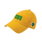 Gold OttoFlex Unstructured Low Profile Hat-OBU Wordmark